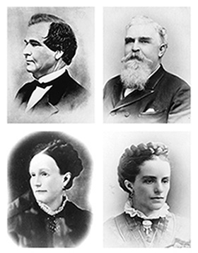 Archive photos of the Creighton family.