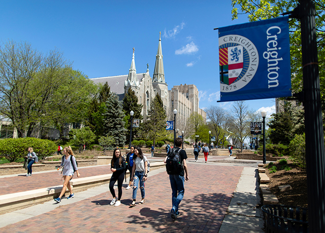 Creighton campus on the Mall