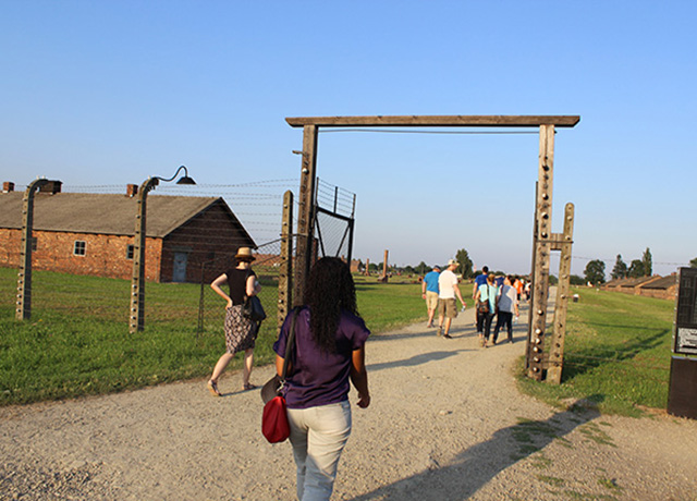 School of law students tour a concentration camp.