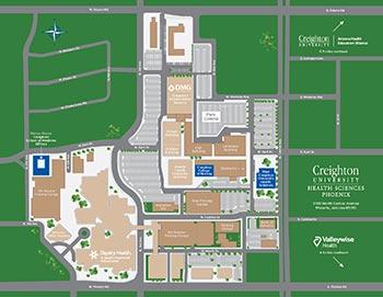 Creighton campus map