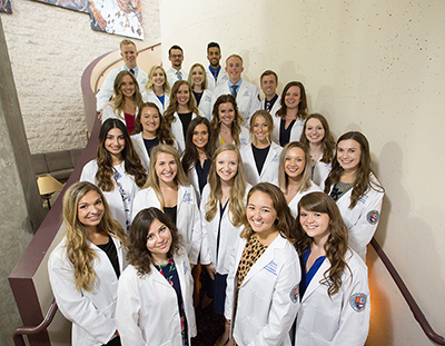 Group of students in the physician assistant program